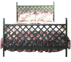 Panel Bed Color: Antique Bronze, Size: Full