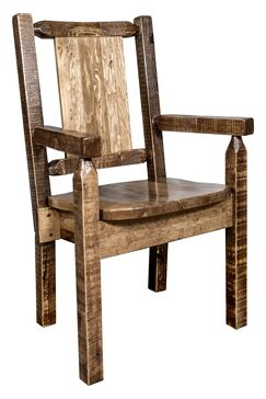 Katlyn Captain's Solid Wood Dining Chair Color: Brown