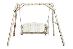 Abordale Porch Swing with Stand Finish: Lacquered