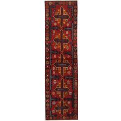 Prentice Tribal Balouchi Hand-Knotted Red/Navy Area Rug
