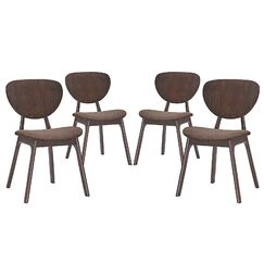 Murmur Dining Side Chair Upholstery Color: Brown