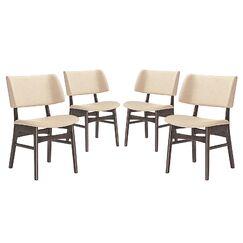 Vestige Dining Side Chair Upholstery Color: Beige