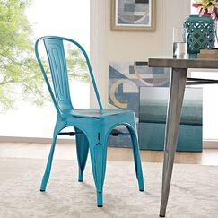 Ashlyn Metal Side Chair Finish: Turquoise