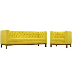 Panache 2 Piece Living Room Set Upholstery: Sunny