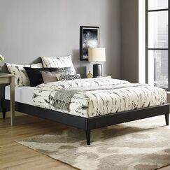 Sharon Queen Platform Bed Color: Black