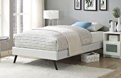 Helen Twin Platform Bed Color: White