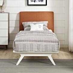 Hannigan Upholstered Platform Bed Color: Orange, Size: Twin
