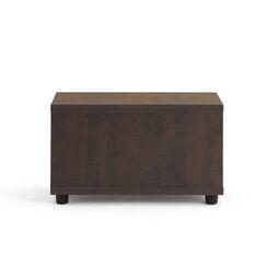 Jenny™ End Table Leg Type / Color: Black Plastic, Laminate Color: Low Pressure Laminate - Chocolate Walnut