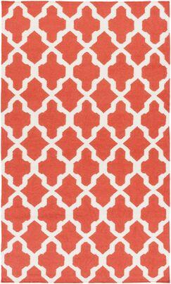 Bangor Orange Geometric Area Rug Rug Size: Rectangle 10' x 14'