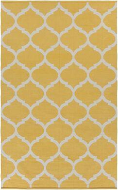 Bohannon Bright Yellow Geometric Area Rug Rug Size: Rectangle 3' x 5'
