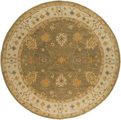 Plemmons Green Area Rug Rug Size: Round 6'