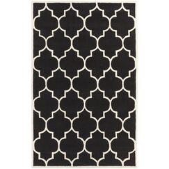Ayler Black Geometric Area Rug Rug Size: Rectangle 9' x 13'