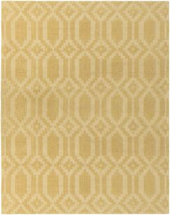Brack Hand-Loomed Yellow Area Rug Rug Size: Rectangle 5' x 7'6