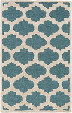 Boise Hand-Tufted Teal Area Rug Rug Size: Rectangle 3' x 5'