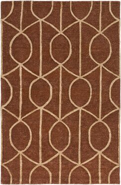 Abbey Hand-Tufted Rust Area Rug Rug Size: Rectangle 9' x 13'