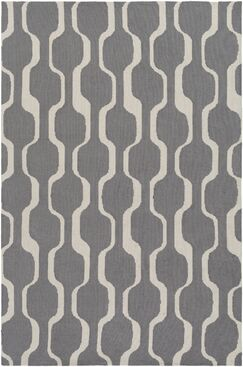 Zaire Hand Tufted Gray Area Rug Rug Size: Rectangle 8' x 11'