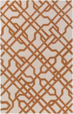 Daigle Hand-Crafted Orange Area Rug Rug Size: Runner 2'3