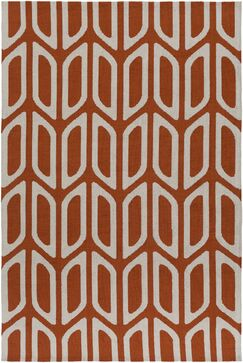 Blohm Orange Area Rug Rug Size: Rectangle 5' x 7'6