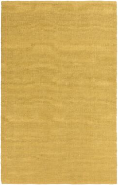 Yother Hand-Woven Gold Area Rug Rug Size: Runner 2'3