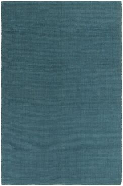 Yother Hand-Woven Teal Area Rug Rug Size: Rectangle 4' x 6'