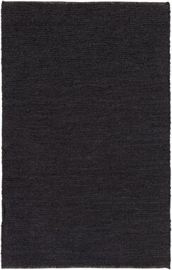 Zellers Hand-Woven Black Area Rug Rug Size: Rectangle 3' x 5'