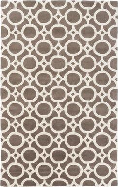 Murrow Hand-Tufted Gray/Ivory Area Rug Rug Size: Rectangle 4' x 6'