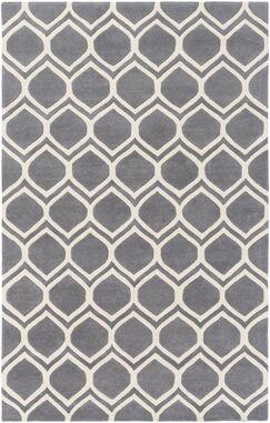 Zellner Hand-Tufted Gray/Beige Area Rug Rug Size: Rectangle 9' x 13'