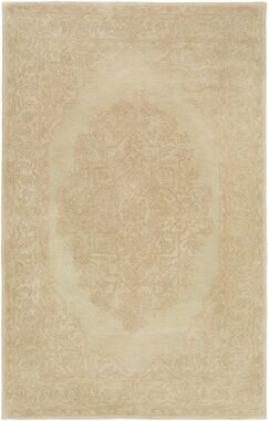 Farner Hand-Tufted Beige Area Rug Rug Size: Rectangle 4' x 6'