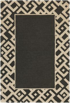 Judkins Hand-Tufted Black/Beige Area Rug Rug Size: Rectangle 3' x 5'