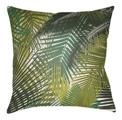 Edwards Palm Indoor/Outdoor Throw Pillow Size: 16