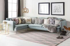 Yowell Hand-Crafted Gray/Light Pink Area Rug Rug Size: Rectangle 3' x 5'