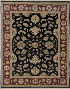 Victoire Ebony/Red Area Rug Rug Size: Runner 2'6