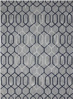Oneil Hand-Tufted Gray/Beige Area Rug Rug Size: 7'6