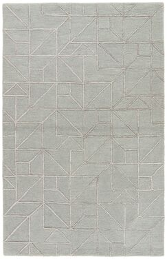 Brundidge Hand-Tufted Slate Gray/Silver Gray Area Rug Rug Size: Rectangle 8' x 11'