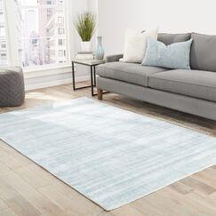 Sara Hand-Woven Gray-blue Area Rug Rug Size: Rectangle 9' x 12'