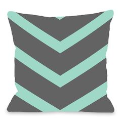 Isabella Reversible Chevron Throw Pillow Color: Turquoise