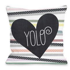 Yolo Throw Pillow Size: 16