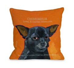 Doggy Décor Chihuahua3 Pillow Size: 26