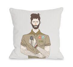 Boyscout Throw Pillow Size: 18