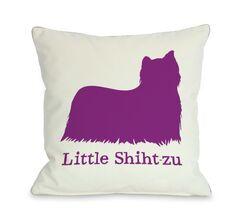 Doggy Décor Little Shih-T-Zu Throw Pillow Size: 26