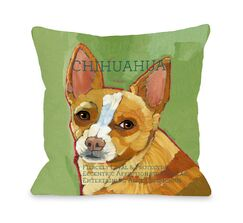 Doggy Décor Chihuahua Throw Pillow Size: 18