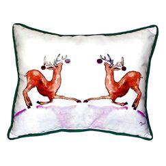 Dancing Deer Indoor/Outdoor Lumbar Pillow Size: Large
