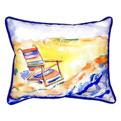 Chair On Beach Indoor/Outdoor Lumbar Pillow