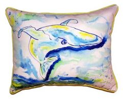Whale Outdoor Lumbar Pillow Size: Extra Large