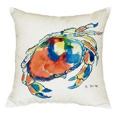 Dungeness Crab Indoor/Outdoor Throw Pillow