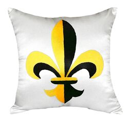 Fleur-de-lis Indoor/Outdoor Throw Pillow