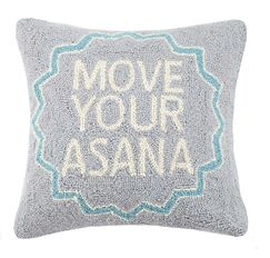 Move Your Asana Cotton Throw Pillow