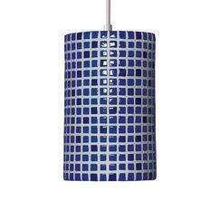 Mosaic 1-Light Cylinder Pendant Finish: Cobalt Blue, Bulb Type: Incandescent