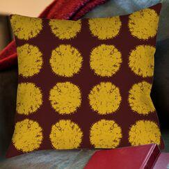 Fuzzy Dots Printed Throw Pillow Size: 26