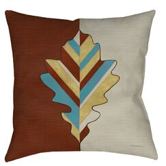 Apache Leaf 4 Indoor/Outdoor Throw Pillow Size: 16